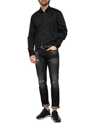 Emporio Armani  Slim Fit % 100 Pamuk J75 Jeans Erkek Kot Pantolon 3K1J75 1Dx4Z 0006 Siyah